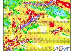 Un nuevo sistema frontal trae viento fuerte a Baleares este domingo