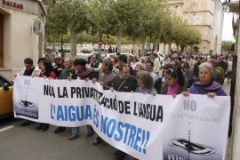 Presentan 440 alegaciones en contra de la privatización del servicio de agua de Binissalem