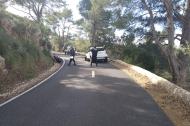 Hospitalizado un motorista tras chocar contra un coche en Valldemossa