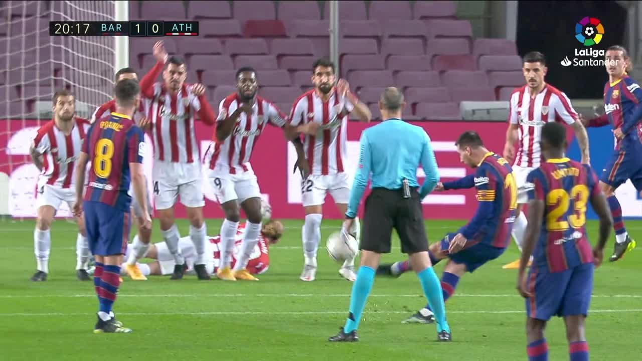 Messi y Griezmann dan el triunfo al Barcelona