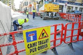 Los cortes de tráfico en la Plaça Mallorca de Inca marcan la recta final de las obras