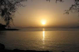 posta de sol a Ca los Camps