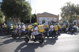 Los 'riders' protestarán en Palma contra la ley de plataformas digitales