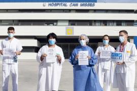 Las mejores imágenes de la manifestación de sanitarios en Ibiza.