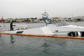 La Guardia Civil investiga el hundimiento de un yate de 23 metros en aguas de Portocolom