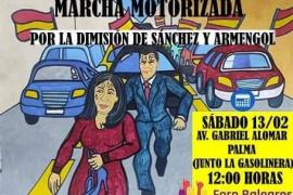 Foro Baleares quiere «colapsar» Palma este sábado para pedir la dimisión de Armengol y Sánchez