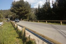 El Consell rectifica y retirará los muretes prefabricados de la carretera de Sóller