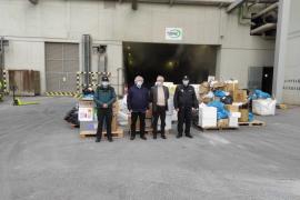 Incinerados unos 3.000 kilos de droga en Son Reus