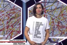La comentada camiseta de Ana Pastor en 'El intermedio'