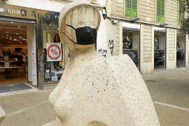 'Dona de Palma', víctima de otra pintada vandálica