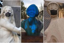 Ataque contra tres esculturas de mujeres en Palma en una semana: ¿Casualidad u odio?