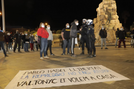 Unas 300 personas se concentran en Palma y Manacor para pedir la libertad de Pablo Hasél