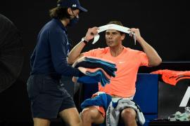 Un tirón vuelve a interrumpir la rueda de prensa de Rafael Nadal
