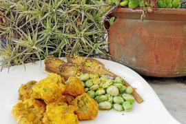 Congrio crujiente con verduras de temporada
