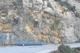 El Consell protege la carretera de sa Calobra de posibles desprendimientos