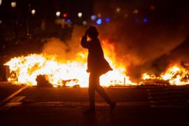Los Mossos investigan cómo perdió un ojo una joven en las protestas por Hasél