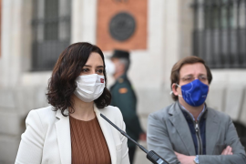 Díaz Ayuso carga duramente contra Podemos tras los disturbios por la libertad de Hasél