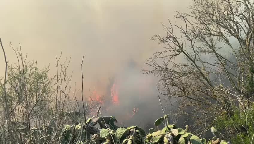 Alarma en Ibiza por un incendio en Es Torrent de s'Aigua
