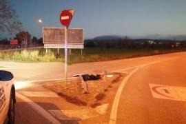 Cazan a un conductor ebrio que huyó en Algaida de un accidente pero se dejó la matrícula