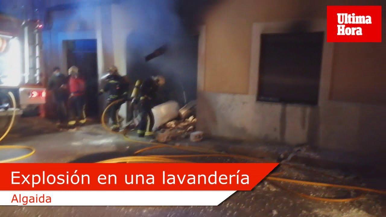 La explosión de una lavandería del centro de Algaida deja tres heridos