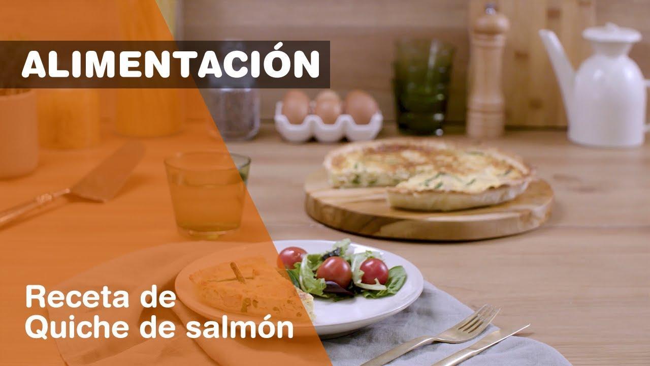 Cómo hacer una quiche de salmón con gambas, huevo, cebolla y espárragos