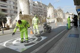 Los primeros carriles 30 se estrenan en calles con una alta demadan de bicicletas