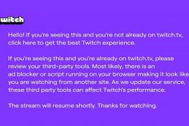 Twitch quiere que veas sus anuncios: lo que significa el pantallazo morado que les aparece a los usuarios de AdBlock