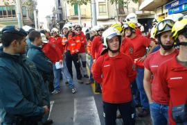 Bauzá, abucheado por los bomberos