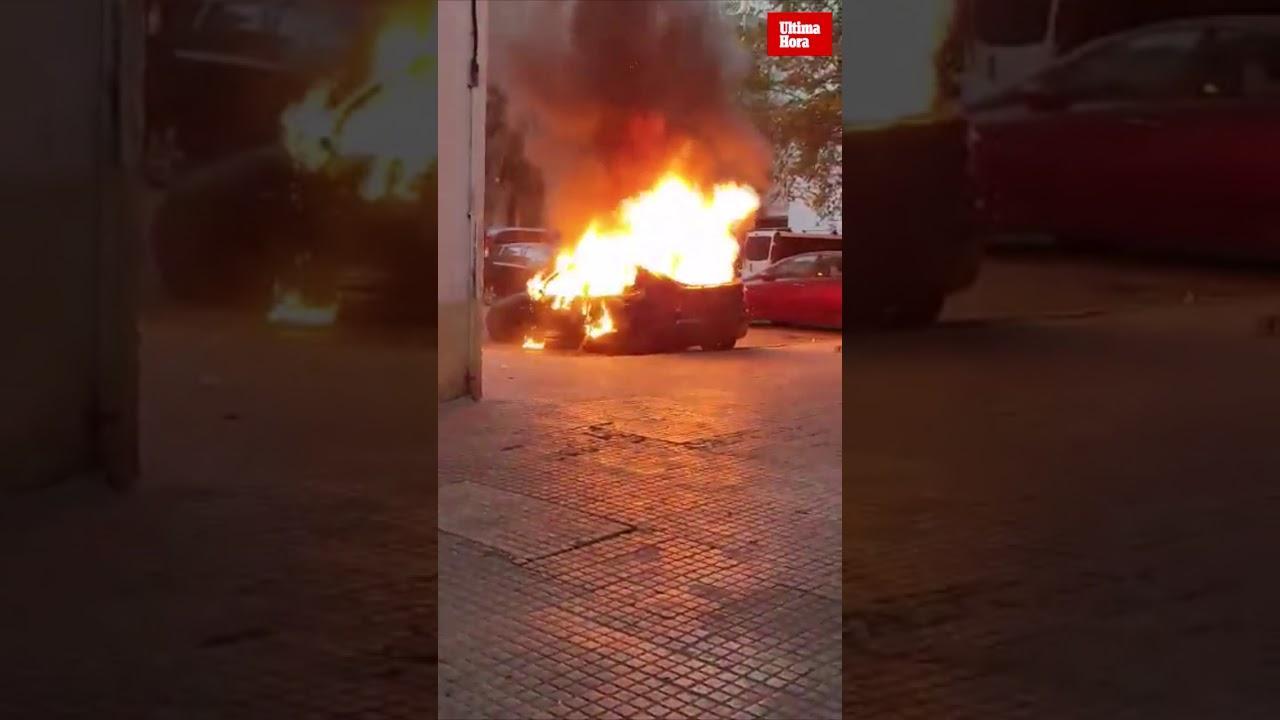 Un incendio calcina un coche en Son Gotleu