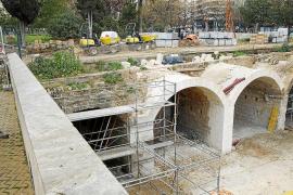 La nueva cara de los arcos del puente de Es Baluard del Príncep