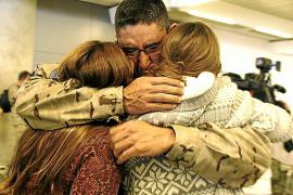 Los militares de Balears destinados en Afganistán regresaron ayer a Palma