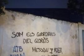Aparecen pintadas contra Jordi Roger y Messow en el Estadi Balear