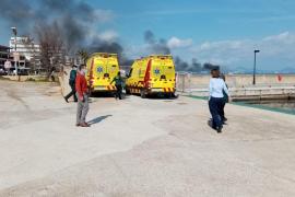 Incendio en el club náutico de Can Picafort