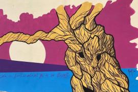 Llorenç Garrit concluye su 'Mural por la Igualdad' en Pòrtol