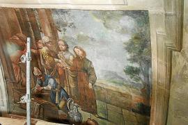 Acaba la primera fase de la restauración de las pinturas murales de Sant Antoniet