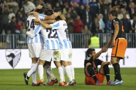 El Málaga vuelve a sonreír en la Liga tras golear al Valencia