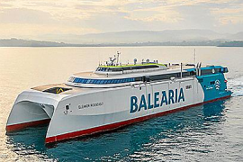 Baleària incorpora en Baleares el primer 'fast ferry' del mundo con gas natural