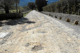 El Consell reasfaltará en color tierra el último tramo de la ruta de Pedra en Sec en la carretera vieja de Pollença a Lluc