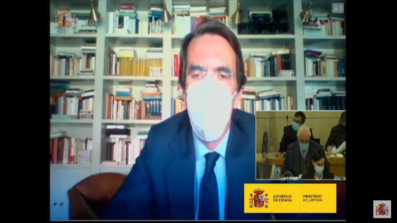 Aznar alaba a Jaume Matas en el juicio de la 'caja B' del PP