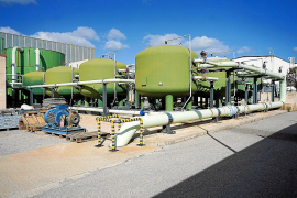 Depósitos de filtración de la desaladora de Vila