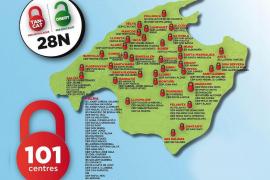 Encierros en más de cien centros