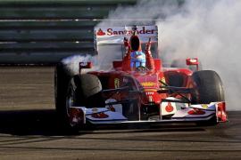 Una exhibición de Alonso y Massa en Cheste pone fin a la temporada de Ferrari