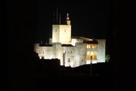 Palacio de la Almudaina de Palma de noche