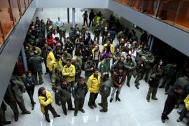 PALMA. CONFLICTOS LABORALES. PROTESTAS DE LOS TRABAJADORES DEL IBANAT CONTRA LOS DESPIDOS.