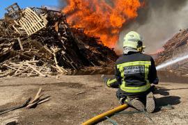 Apagado el incendio junto a Son Reus tras casi 24 horas de trabajo