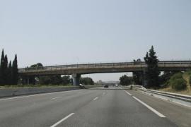 El Consell desviará el tráfico de un tramo  de la autopista de Inca a partir de este viernes