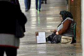 La policía constata la existencia de un grupo organizado de mendigos en el centro de Palma