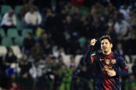 Messi bate un nuevo récord en la victoria ante el Betis