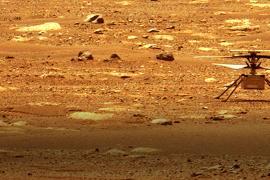 NASA Ingenuity Mars Helicopter on Mars