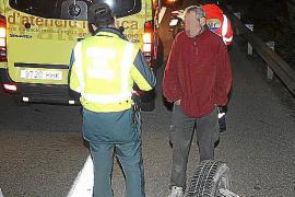 Detenido un conductor que volcó en la autopista de s'Arenal bebido, sin seguro y en busca y captura